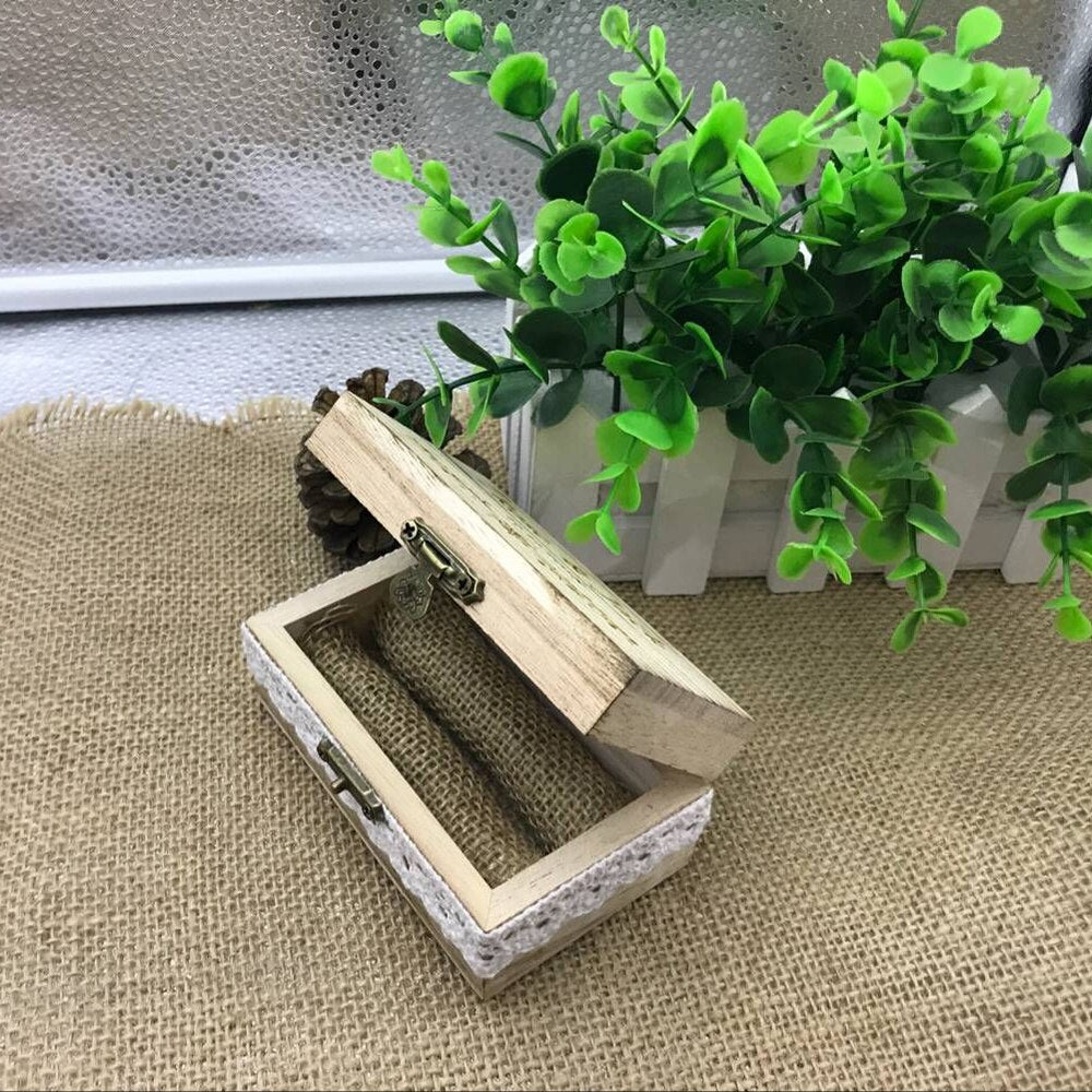 Personalised Wooden Wedding Ring Box/Ring Holder-weddingniknaks