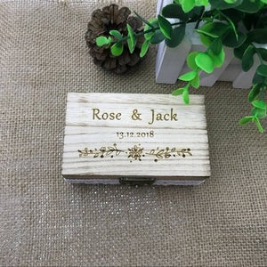 Personalised Wooden Wedding Ring Box/Ring Holder - weddingniknaks