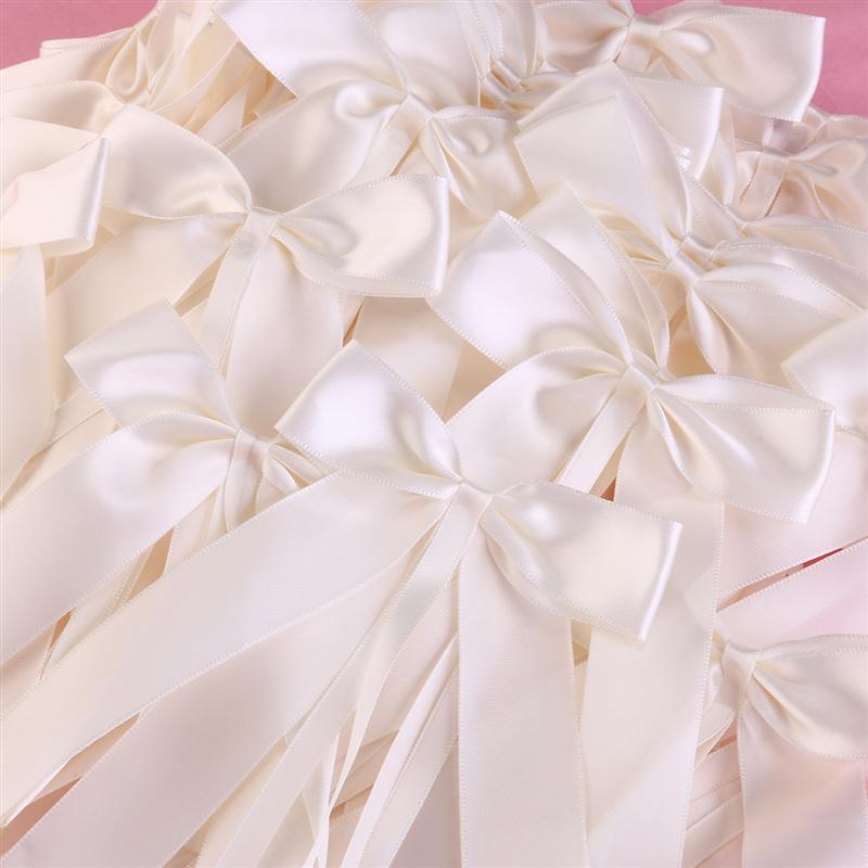 50 Ribbon Bows for Pew Ends, Chairs and Wedding Cars.-weddingniknaks