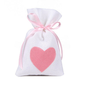 50 WHITE LINEN/NATURAL BURLAP DRAWSTRING VINTAGE FAVOR BAGS. AVAILABLE IN A VARIETY OF COLOURSStyle F-weddingniknaks