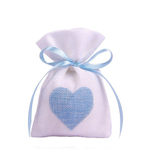 50 WHITE LINEN/NATURAL BURLAP DRAWSTRING VINTAGE FAVOR BAGS. AVAILABLE IN A VARIETY OF COLOURSStyle H-weddingniknaks