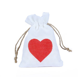 50 WHITE LINEN/NATURAL BURLAP DRAWSTRING VINTAGE FAVOR BAGS. AVAILABLE IN A VARIETY OF COLOURSStyle I-weddingniknaks