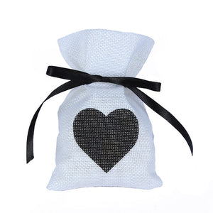 50 WHITE LINEN/NATURAL BURLAP DRAWSTRING VINTAGE FAVOR BAGS. AVAILABLE IN A VARIETY OF COLOURSStyle L-weddingniknaks