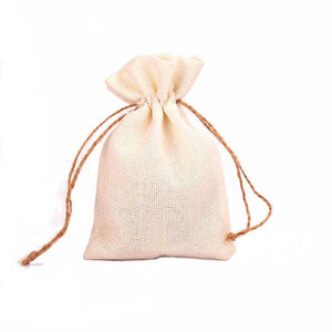 50 WHITE LINEN/NATURAL BURLAP DRAWSTRING VINTAGE FAVOR BAGS. AVAILABLE IN A VARIETY OF COLOURSStyle N-weddingniknaks