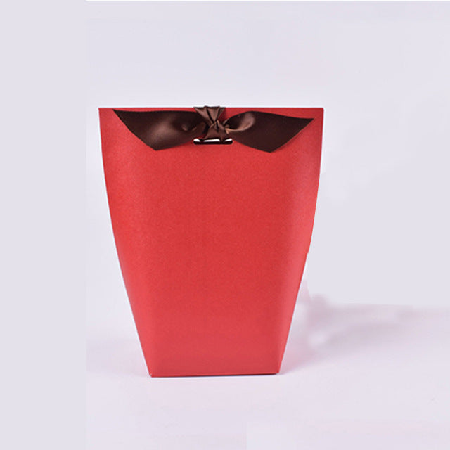 20 SMALL WEDDING FAVOR BAGS WITH RIBBON AVAILABLE IN 3 COLOURS OR AS A MIXTURERed / 80x55x165mm-weddingniknaks