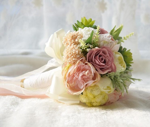 COUNTRY STYLE WEDDING BOUQUET. AVAILABLE IN 3 STYLES AND COLOUR CHOICES - weddingniknaks