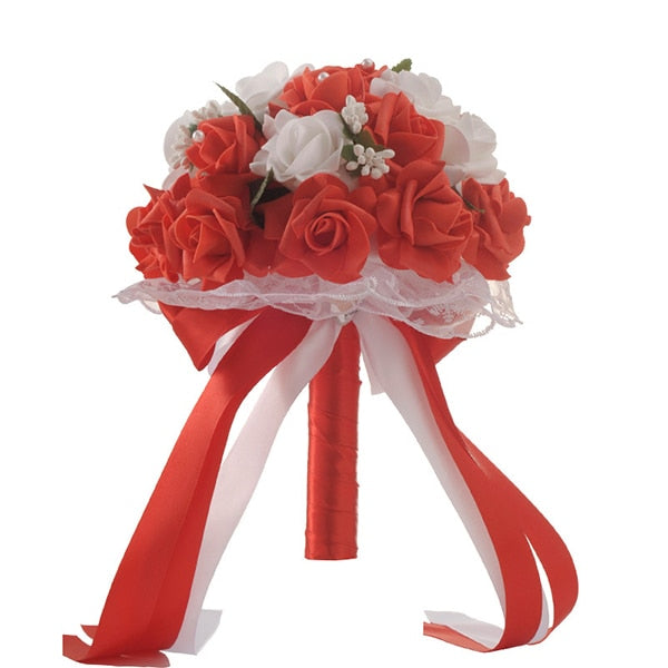Foam Rose Bouquet in a choice of 6 colours. - weddingniknaks