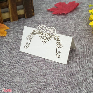 50 Laser cut place setting/table number cards, available in 9 different styles01-white-weddingniknaks