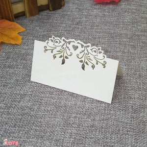 50 Laser cut place setting/table number cards, available in 9 different styles03-white-weddingniknaks