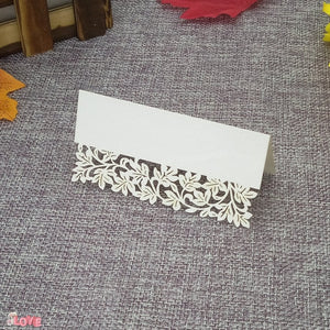 50 Laser cut place setting/table number cards, available in 9 different styles07-white-weddingniknaks