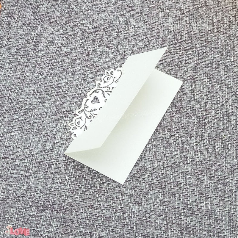 50 Laser cut place setting/table number cards, available in 9 different styles-weddingniknaks
