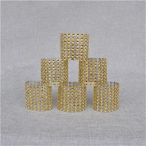 50 Rhinestone Serviette/Napkin Rings - weddingniknaks