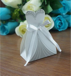 50 BRIDE AND 50 GROOM IN TUXEDO FAVOR/CANDY BOXES - weddingniknaks