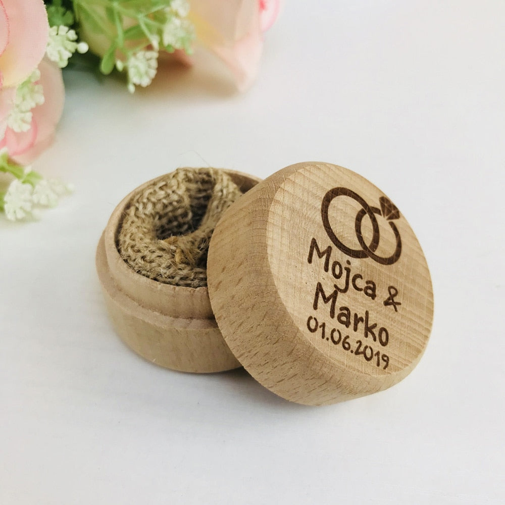 Personalised Wedding Wooden Ring Box Holder, Available In 8 Different Styles-weddingniknaks