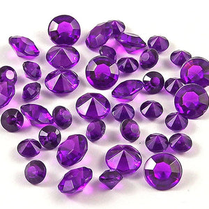 12,000 ACRYLIC 4MM RHINESTONE CRYSTALS TABLE DECORATION/TABLE SCATTERS AVAILABLE IN 19 COLOURSDark Purple / 4mm 12000pcs-weddingniknaks