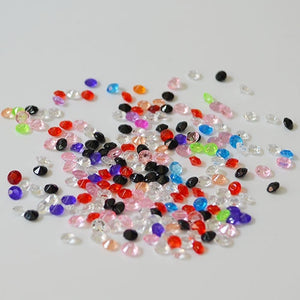 12,000 ACRYLIC 4MM RHINESTONE CRYSTALS TABLE DECORATION/TABLE SCATTERS AVAILABLE IN 19 COLOURSMulti Colors Mixed / 4mm 12000pcs-weddingniknaks