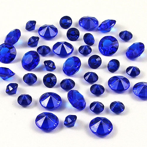12,000 ACRYLIC 4MM RHINESTONE CRYSTALS TABLE DECORATION/TABLE SCATTERS AVAILABLE IN 19 COLOURSDark Blue / 4mm 12000pcs-weddingniknaks
