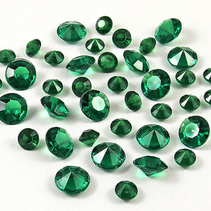 12,000 ACRYLIC 4MM RHINESTONE CRYSTALS TABLE DECORATION/TABLE SCATTERS AVAILABLE IN 19 COLOURSDark Green / 4mm 12000pcs-weddingniknaks