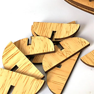 Wooden Table Numbering, Numbers 1 -20, In the Shape of a Heart - weddingniknaks