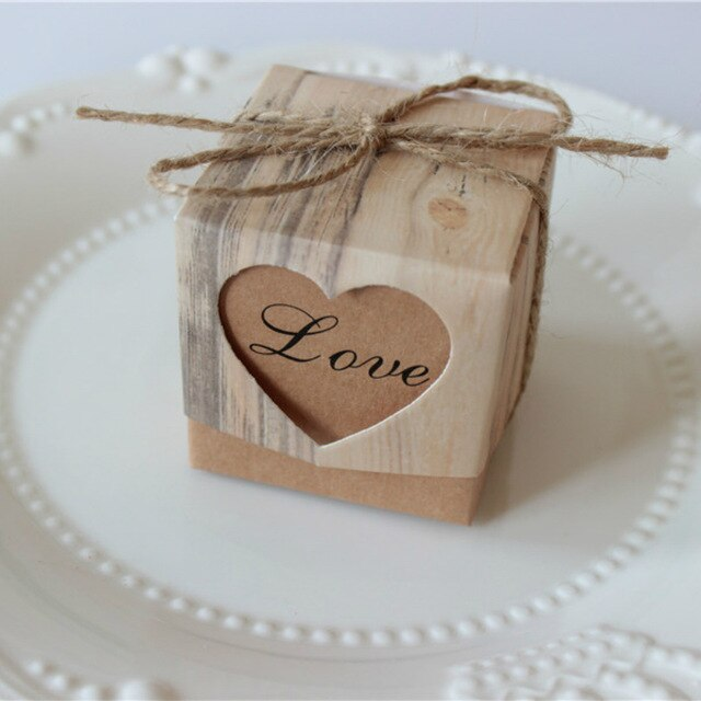 40 Vintage Heart Candy and Gift Boxes with Twine and 'Love' wordingDefault Title-weddingniknaks