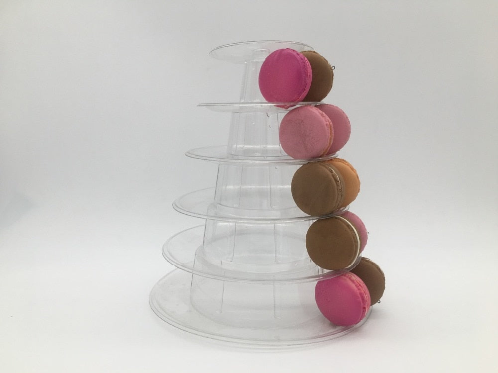 6 Tier Macaroon Tower Display Stand/Small Cake Stand.-weddingniknaks