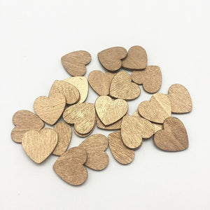 Wooden Heart Table Scatters - weddingniknaks