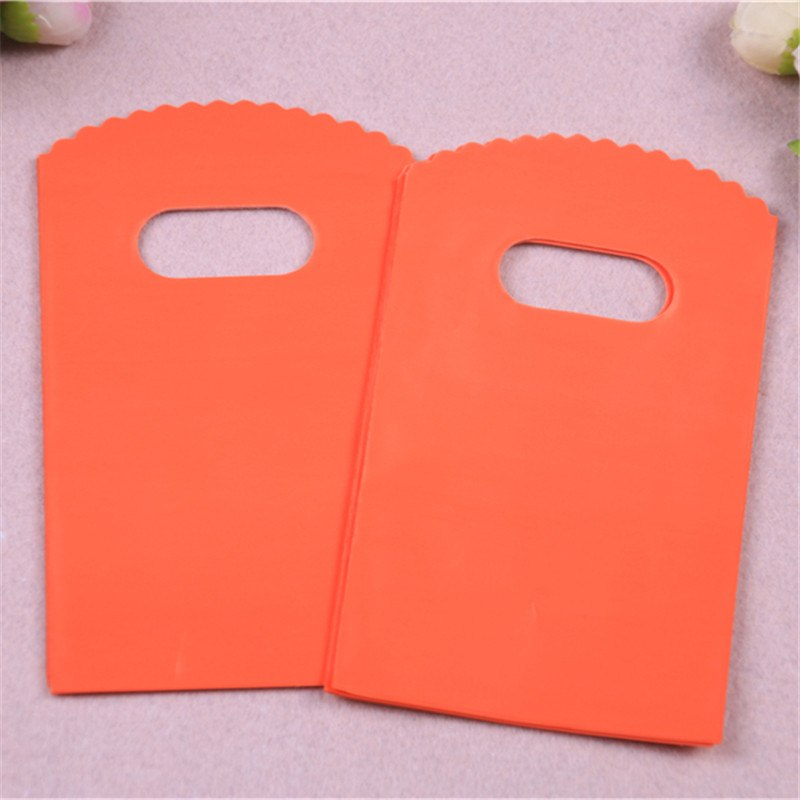 50 Small Orange Packaging Bags/Favor Bags/Gift Bags - weddingniknaks