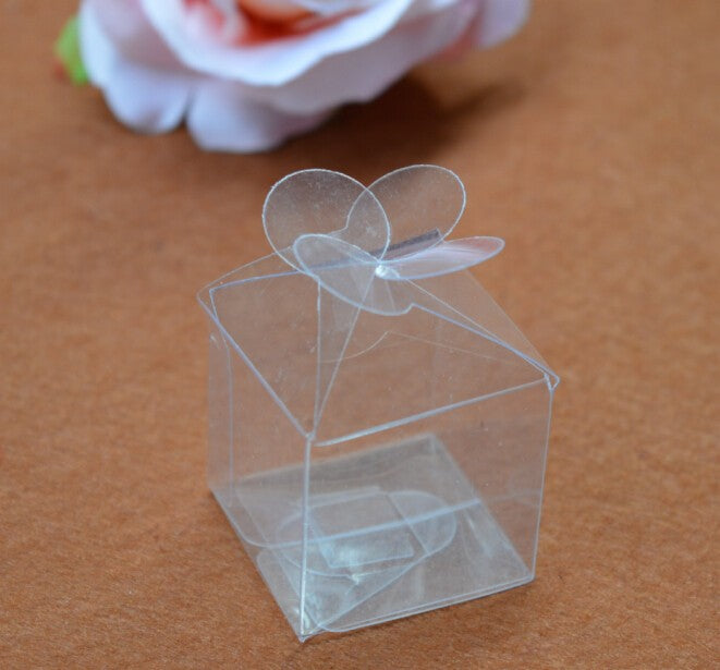 50 Mini Transparent Favor/Candy Boxes, Available In 3 Sizes - weddingniknaks