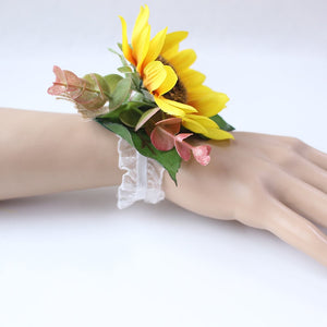 Wedding Party Corsages, Wrist Flowers and Buttonholes in 14 different Styles-weddingniknaks