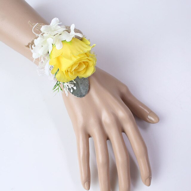 Wedding Party Corsages, Wrist Flowers and Buttonholes in 14 different Styleswrist corsage-A-weddingniknaks