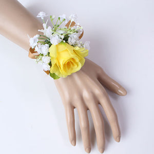 Wedding Party Corsages, Wrist Flowers and Buttonholes in 14 different Styleswrist corsage-B-weddingniknaks