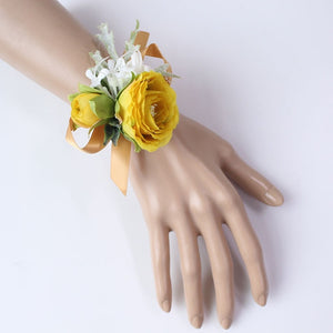 Wedding Party Corsages, Wrist Flowers and Buttonholes in 14 different Styleswrist corsage-D-weddingniknaks