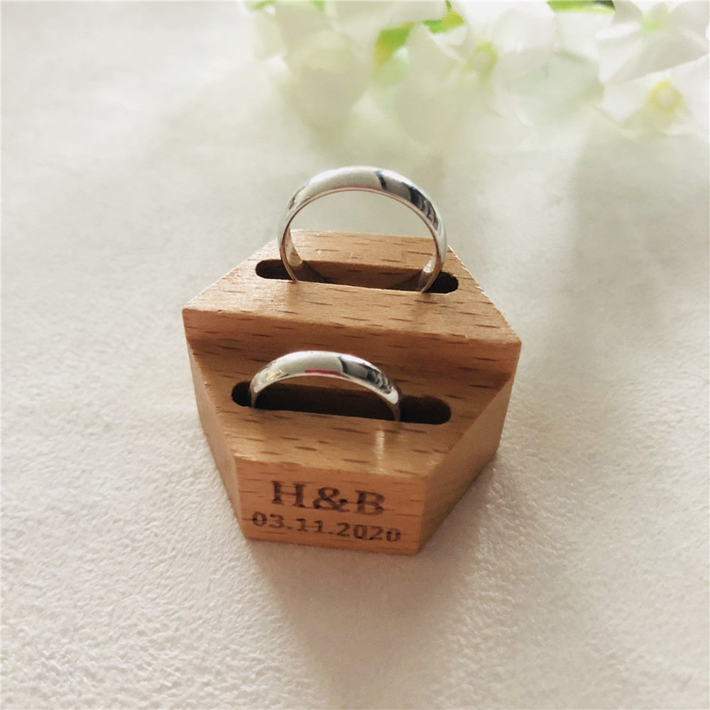 Customised Open Wedding Ring Presentation Box. - weddingniknaks