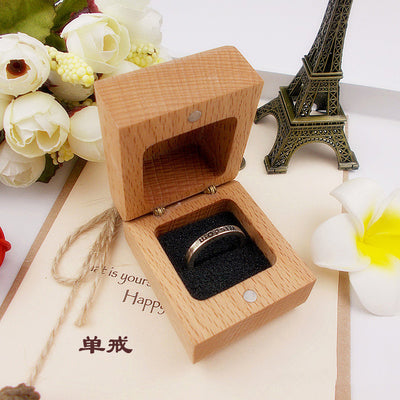 Customised Square Wedding Ring Box available as single or double - weddingniknaks