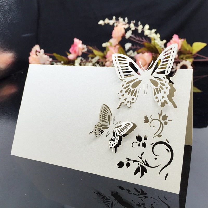 10 Butterfly Wedding Table Number Cards/Place Settings/Seatings-weddingniknaks