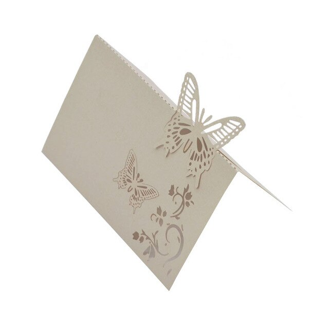 10 Butterfly Wedding Table Number Cards/Place Settings/Seatings - weddingniknaks