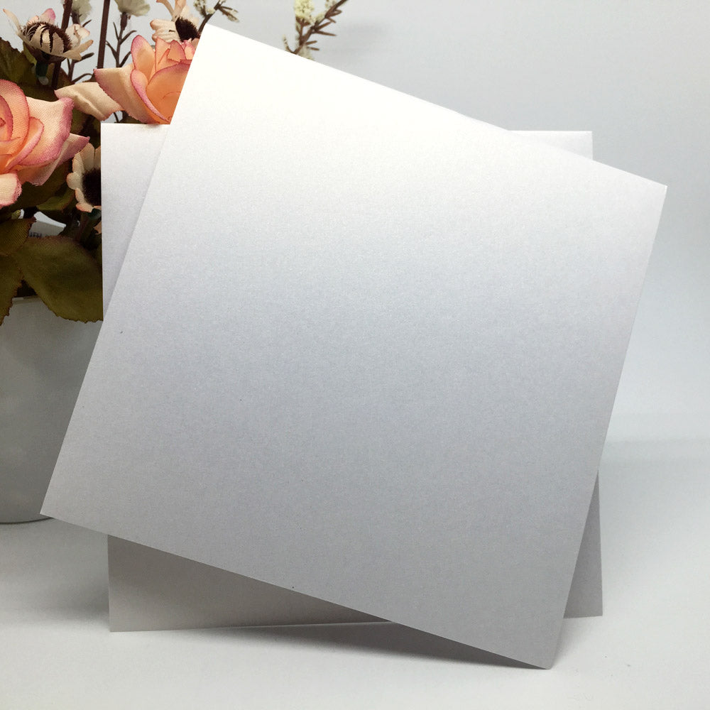 10 Sheet Set Of Blank Pearlescent Invitation Inner Cards Available In Square Or Rectangular, and 8 Colours-weddingniknaks