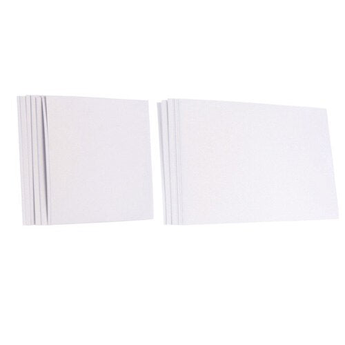 10 Sheet Set Of Blank Pearlescent Invitation Inner Cards Available In Square Or Rectangular, and 8 ColoursWhite / Square-weddingniknaks