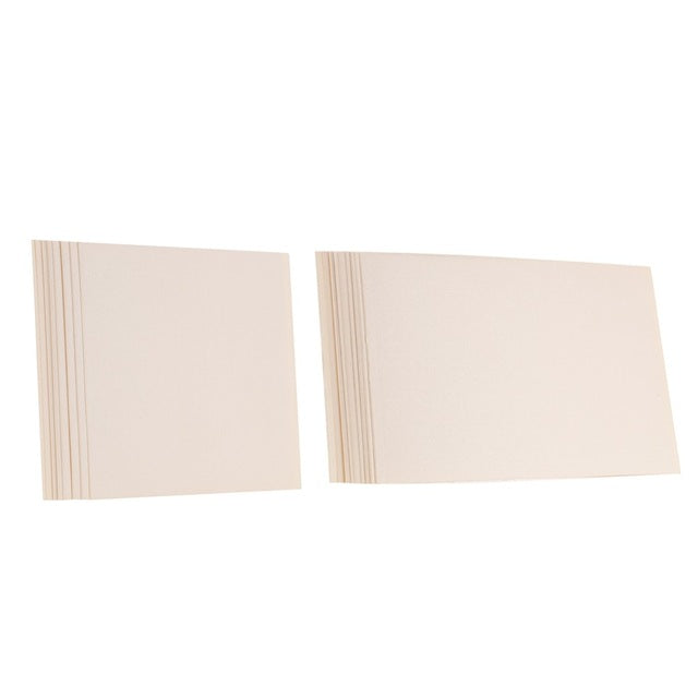 10 Sheet Set Of Blank Pearlescent Invitation Inner Cards Available In Square Or Rectangular, and 8 ColoursBeige / Square-weddingniknaks
