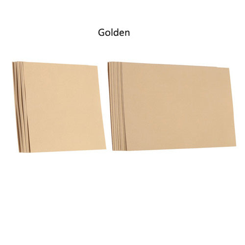 10 Sheet Set Of Blank Pearlescent Invitation Inner Cards Available In Square Or Rectangular, and 8 ColoursGolden / Square-weddingniknaks