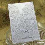 20 Iridescent Pearl Paper Wedding Invitation Case available in 4 colours - weddingniknaks