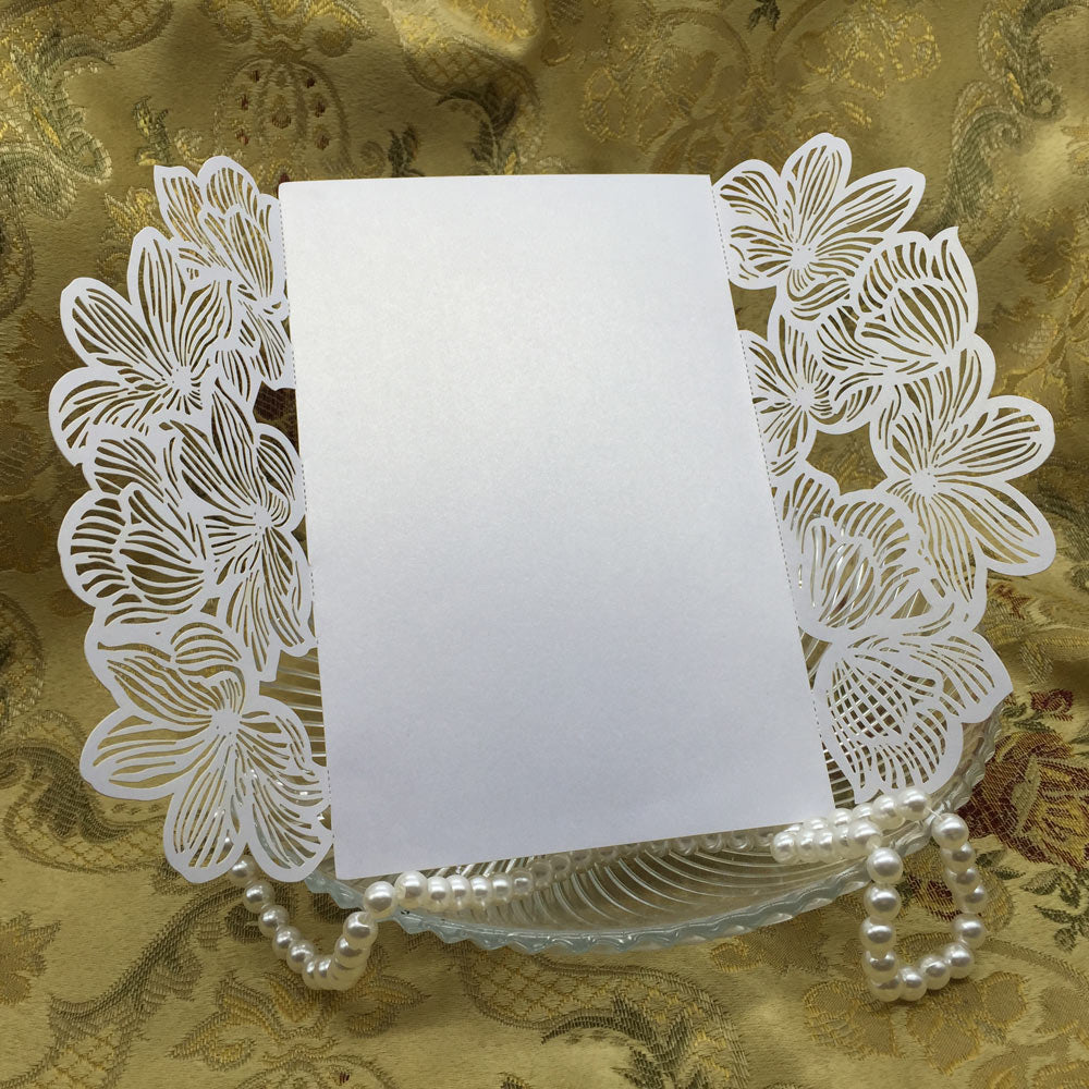 20 Iridescent Pearl Paper Wedding Invitation Case available in 4 colours-weddingniknaks