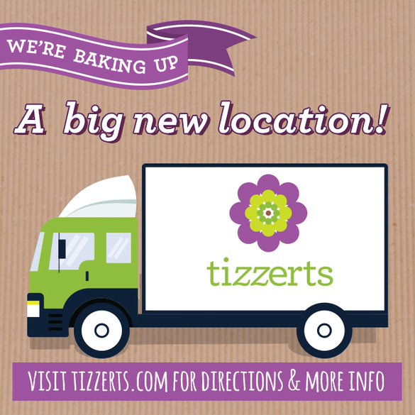 "Tizzerts will be closed October 21st-23rd  For a very good reason, we have ""cooked up"" a location change:  We need more room for producing our delicious cupcakes, brownies, layer cakes and more.  Tizzerts will also be offering decorating classes soon!  Ou"