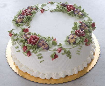 Christmas Tizzerts Flowers Cake