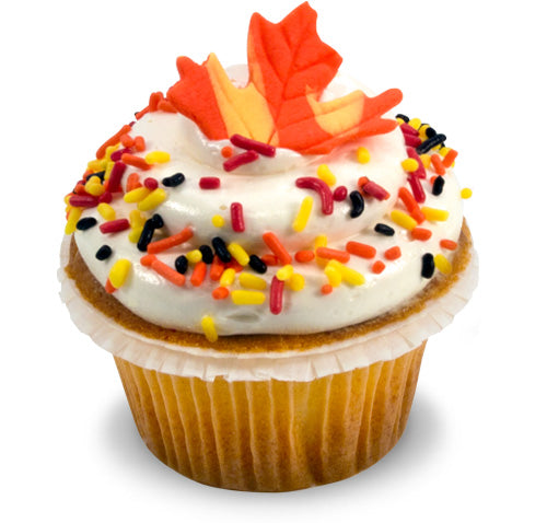 Fall Leaves Cupcake