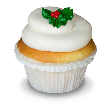 Holly Leaf Cupcake