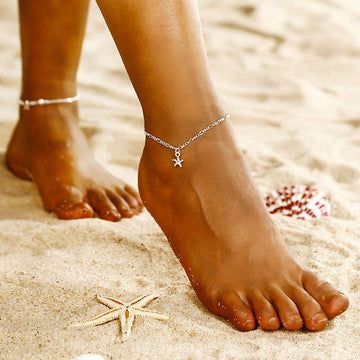 Golden Starfish Anklet