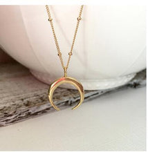 half moon pendant necklace