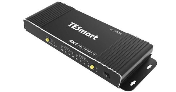 TESMART 4 PORT HDMI 2.0 KVM SWITCH - 4K 60HZ - MOUNTABLE
