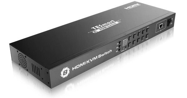 TESMART 8-PORT HDMI KVM SWITCH - AUTOSCAN, RACKMOUNT, ETHERNET, USB HUB, 4K 30HZ